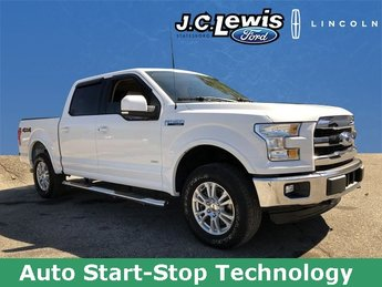 2016 Oxford White Ford F-150 Lariat 4X4 2.7L V6 EcoBoost Engine Truck 4 Door