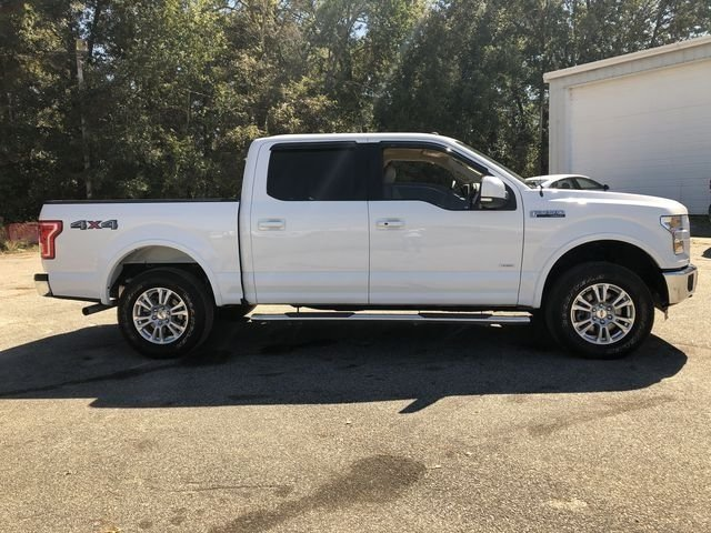 2016 Oxford White Ford F-150 Lariat Truck 4X4 2.7L V6 EcoBoost Engine 4 Door