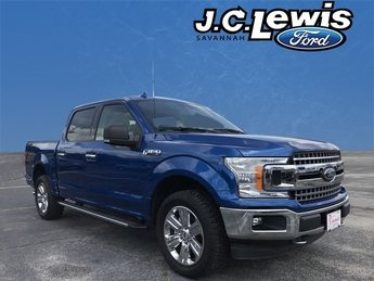 2018 Lightning Blue Ford F-150 XLT Automatic EcoBoost 2.7L V6 GTDi DOHC 24V Twin Turbocharged Engine Truck
