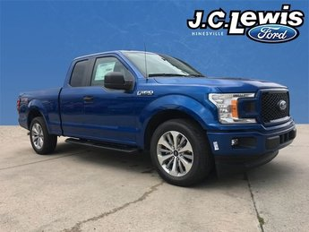 2018 Lightning Blue Ford F-150 XL EcoBoost 2.7L V6 GTDi DOHC 24V Twin Turbocharged Engine RWD Automatic