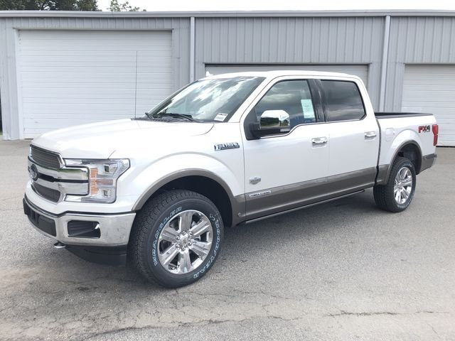 2018 White Platinum Metallic Tri-Coat Ford F-150 King Ranch Truck 4 Door 3.0L Diesel Turbocharged Engine 4X4