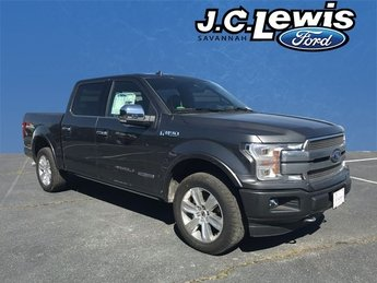 2018 Magnetic Metallic Ford F-150 Platinum 4X4 4 Door Truck