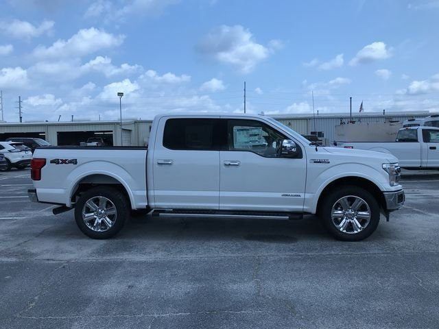 2018 White Platinum Metallic Tri-Coat Ford F-150 Lariat 4 Door 4X4 Truck 3.0L Diesel Turbocharged Engine