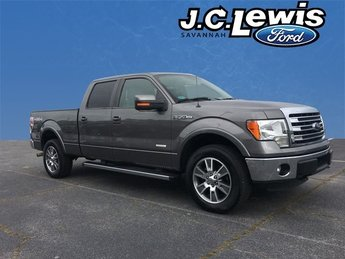 2014 Gray Ford F-150 Lariat 4X4 EcoBoost 3.5L V6 GTDi DOHC 24V Twin Turbocharged Engine Truck Automatic