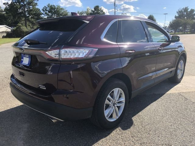 2018 Burgundy Velvet Metallic Tinted Clearcoat Ford Edge SEL FWD EcoBoost 2.0L I4 GTDi DOHC Turbocharged VCT Engine SUV Automatic 4 Door