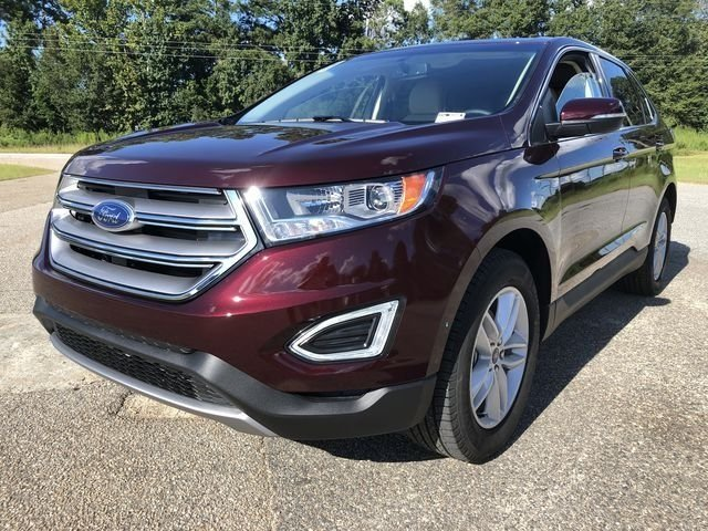 2018 Burgundy Velvet Metallic Tinted Clearcoat Ford Edge SEL EcoBoost 2.0L I4 GTDi DOHC Turbocharged VCT Engine Automatic SUV FWD