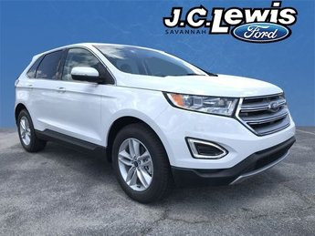 2018 Oxford White Ford Edge SEL EcoBoost 2.0L I4 GTDi DOHC Turbocharged VCT Engine Automatic SUV FWD 4 Door