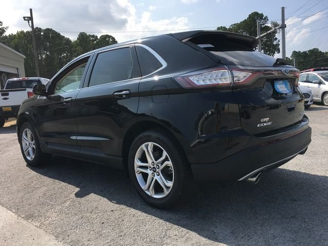 2018 Shadow Black Ford Edge Titanium 4 Door Automatic FWD 3.5L V6 Ti-VCT Engine SUV