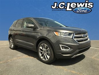 2018 Magnetic Metallic Ford Edge Titanium EcoBoost 2.0L I4 GTDi DOHC Turbocharged VCT Engine FWD SUV