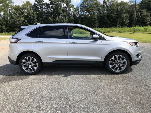 2018 Ingot Silver Metallic Ford Edge Titanium FWD Automatic EcoBoost 2.0L I4 GTDi DOHC Turbocharged VCT Engine SUV