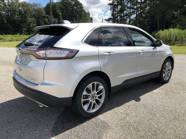 2018 Ingot Silver Metallic Ford Edge Titanium 4 Door EcoBoost 2.0L I4 GTDi DOHC Turbocharged VCT Engine FWD Automatic