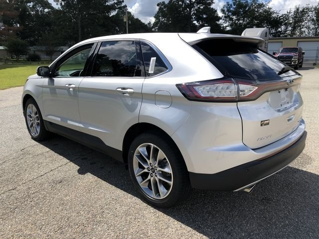 2018 Ingot Silver Metallic Ford Edge Titanium FWD Automatic EcoBoost 2.0L I4 GTDi DOHC Turbocharged VCT Engine 4 Door