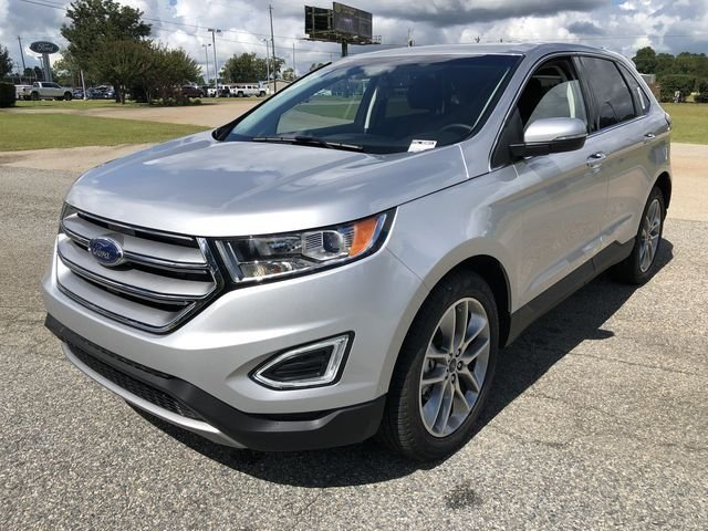 2018 Ingot Silver Metallic Ford Edge Titanium Automatic SUV EcoBoost 2.0L I4 GTDi DOHC Turbocharged VCT Engine FWD 4 Door