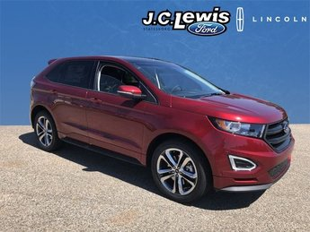 2018 Ruby Red Metallic Tinted Clearcoat Ford Edge Sport EcoBoost 2.7L V6 GTDi DOHC 24V Twin Turbocharged Engine Automatic SUV AWD