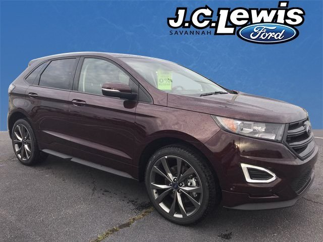 2018 Burgundy Velvet Metallic Tinted Clearcoat Ford Edge Sport AWD 4 Door EcoBoost 2.7L V6 GTDi DOHC 24V Twin Turbocharged Engine Automatic SUV