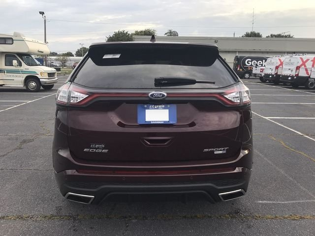 2018 Burgundy Velvet Metallic Tinted Clearcoat Ford Edge Sport 4 Door EcoBoost 2.7L V6 GTDi DOHC 24V Twin Turbocharged Engine SUV