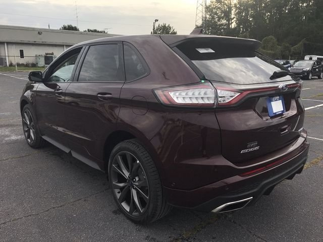 2018 Burgundy Velvet Metallic Tinted Clearcoat Ford Edge Sport Automatic EcoBoost 2.7L V6 GTDi DOHC 24V Twin Turbocharged Engine 4 Door AWD SUV