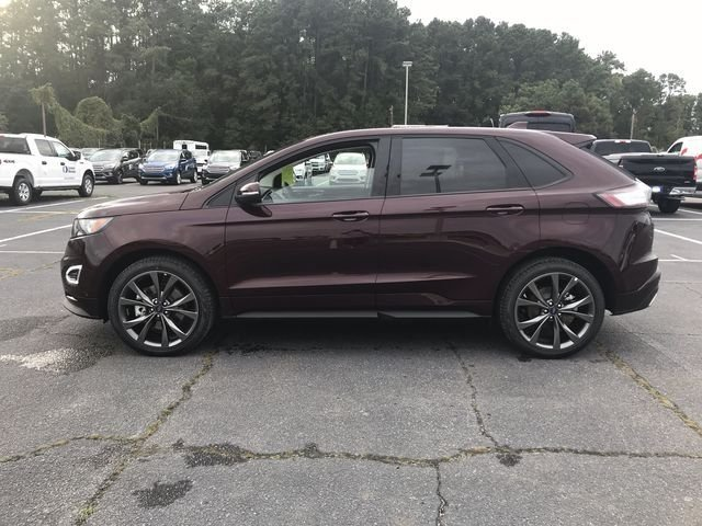 2018 Burgundy Velvet Metallic Tinted Clearcoat Ford Edge Sport SUV 4 Door EcoBoost 2.7L V6 GTDi DOHC 24V Twin Turbocharged Engine AWD