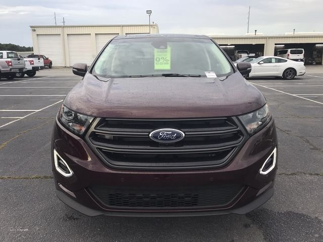 2018 Burgundy Velvet Metallic Tinted Clearcoat Ford Edge Sport Automatic SUV AWD 4 Door EcoBoost 2.7L V6 GTDi DOHC 24V Twin Turbocharged Engine