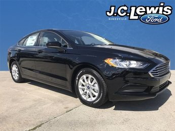 2018 Shadow Black Ford Fusion S FWD 4 Door Sedan I4 Engine