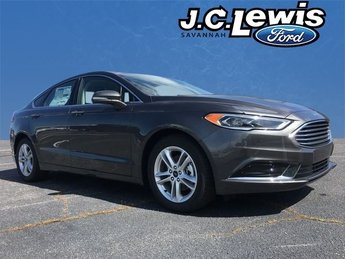 2018 Magnetic Metallic Ford Fusion SE EcoBoost 1.5L I4 GTDi DOHC Turbocharged VCT Engine Sedan Automatic FWD
