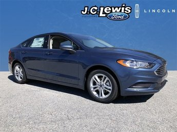 2018 Blue Metallic Ford Fusion SE Automatic EcoBoost 1.5L I4 GTDi DOHC Turbocharged VCT Engine 4 Door