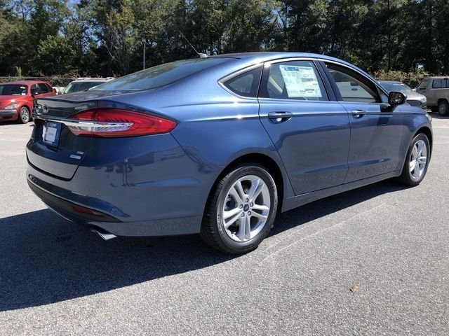 2018 Blue Metallic Ford Fusion SE Sedan FWD EcoBoost 1.5L I4 GTDi DOHC Turbocharged VCT Engine