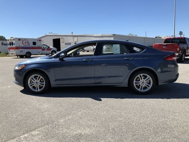 2018 Blue Metallic Ford Fusion SE Sedan FWD 4 Door EcoBoost 1.5L I4 GTDi DOHC Turbocharged VCT Engine