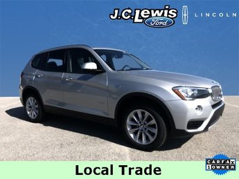 2017 Mineral Silver Metallic BMW X3 sDrive28i 2.0L I4 TwinPower Turbo Engine SUV 4 Door Automatic