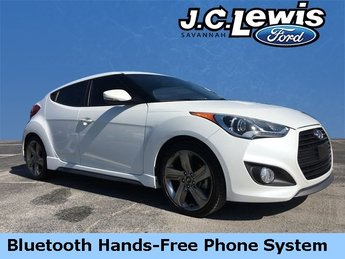 2014 Elite White Pearl Hyundai Veloster Turbo 1.6L I4 DGI DOHC 16V Turbocharged Engine FWD 3 Door
