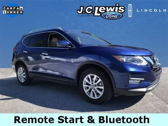 2017 Caspian Blue Nissan Rogue SV FWD Automatic (CVT) 2.5L I4 DOHC 16V Engine SUV