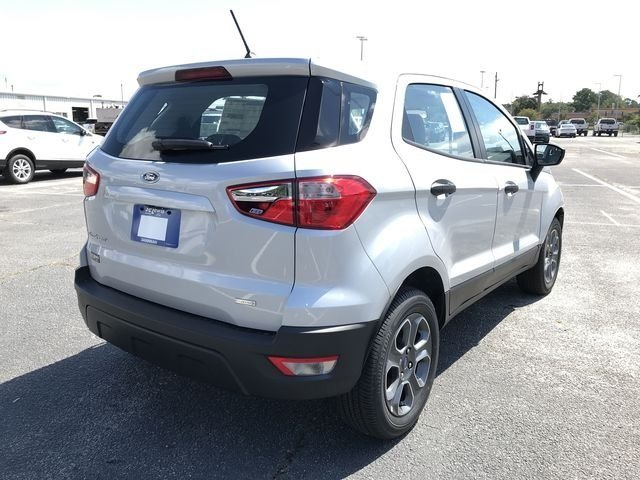 2018 Moondust Silver Metallic Ford EcoSport S SUV EcoBoost 1.0L I3 GTDi DOHC Turbocharged VCT Engine 4 Door