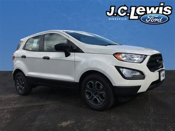 2018 Diamond White Ford EcoSport S 4 Door SUV EcoBoost 1.0L I3 GTDi DOHC Turbocharged VCT Engine Automatic