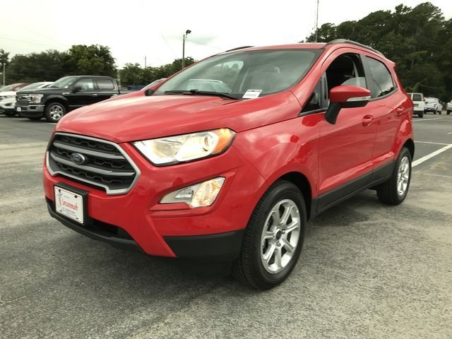 2018 Race Red Ford EcoSport SE EcoBoost 1.0L I3 GTDi DOHC Turbocharged VCT Engine 4 Door FWD SUV
