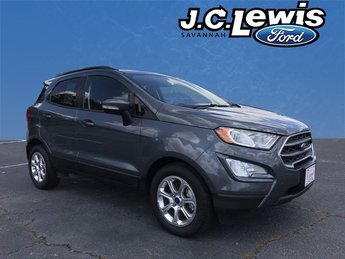 2018 Smoke Metallic Ford EcoSport SE Automatic EcoBoost 1.0L I3 GTDi DOHC Turbocharged VCT Engine 4 Door FWD