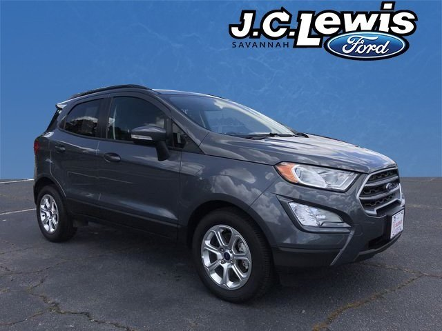 2018 Smoke Metallic Ford EcoSport SE SUV Automatic 4 Door EcoBoost 1.0L I3 GTDi DOHC Turbocharged VCT Engine