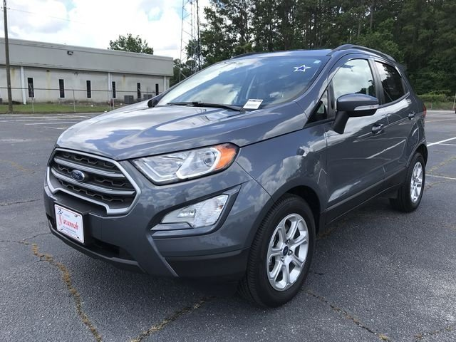 2018 Smoke Metallic Ford EcoSport SE 4 Door Automatic EcoBoost 1.0L I3 GTDi DOHC Turbocharged VCT Engine