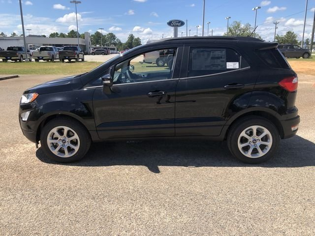 2018 Shadow Black Ford EcoSport SE SUV EcoBoost 1.0L I3 GTDi DOHC Turbocharged VCT Engine 4 Door Automatic FWD