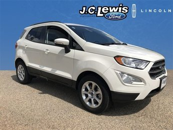 2018 Diamond White Ford EcoSport SE FWD EcoBoost 1.0L I3 GTDi DOHC Turbocharged VCT Engine Automatic SUV