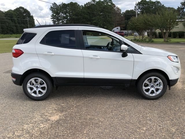 2018 Diamond White Ford EcoSport SE 4 Door FWD SUV EcoBoost 1.0L I3 GTDi DOHC Turbocharged VCT Engine