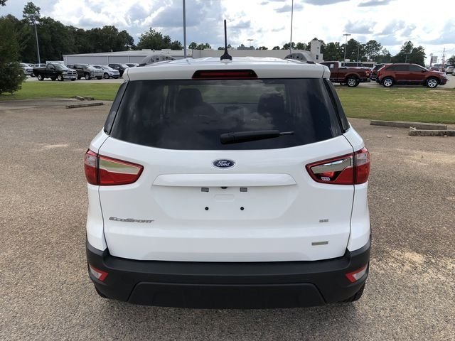 2018 Diamond White Ford EcoSport SE FWD EcoBoost 1.0L I3 GTDi DOHC Turbocharged VCT Engine 4 Door SUV Automatic