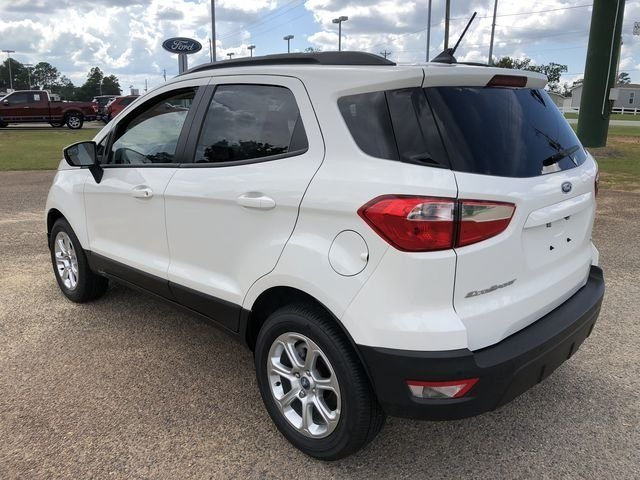 2018 Diamond White Ford EcoSport SE FWD Automatic SUV EcoBoost 1.0L I3 GTDi DOHC Turbocharged VCT Engine