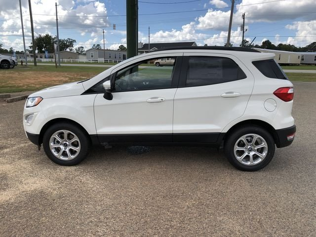 2018 Diamond White Ford EcoSport SE FWD EcoBoost 1.0L I3 GTDi DOHC Turbocharged VCT Engine 4 Door Automatic