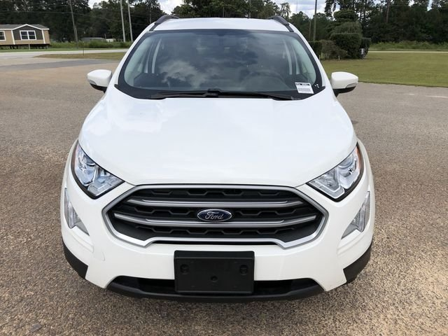 2018 Diamond White Ford EcoSport SE Automatic 4 Door EcoBoost 1.0L I3 GTDi DOHC Turbocharged VCT Engine