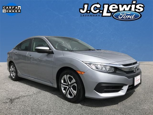 2017 Lunar Silver Metallic Honda Civic LX 4 Door FWD Automatic (CVT)