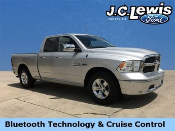 2016 Bright Silver Metallic Clearcoat Ram 1500 SLT HEMI 5.7L V8 Multi Displacement VVT Engine 4 Door RWD