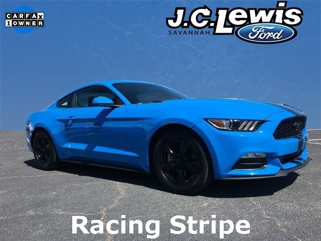 2017 Grabber Blue Ford Mustang V6 2 Door 3.7L V6 Ti-VCT 24V Engine Coupe