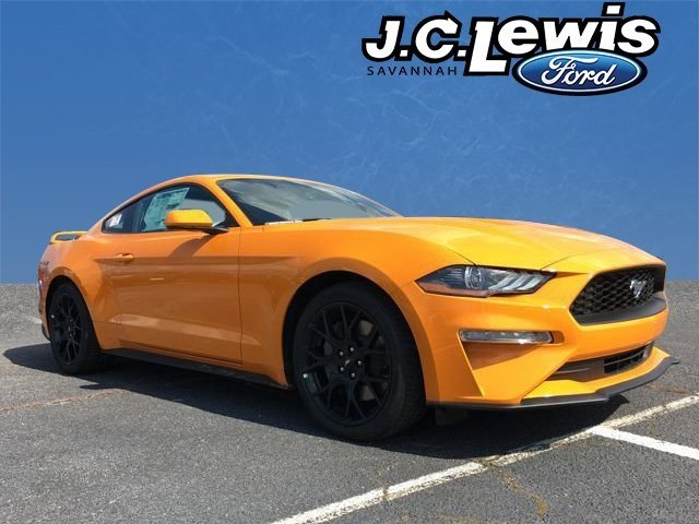 2018 Orange Fury Metallic Tri-Coat Ford Mustang EcoBoost 2 Door RWD Coupe Automatic EcoBoost 2.3L I4 GTDi DOHC Turbocharged VCT Engine