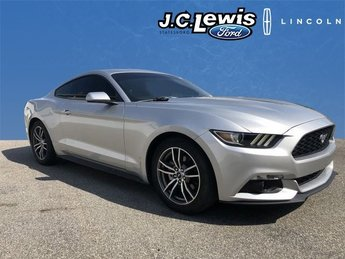 2016 Ingot Silver Metallic Ford Mustang EcoBoost 2 Door EcoBoost 2.3L I4 GTDi DOHC Turbocharged VCT Engine Automatic