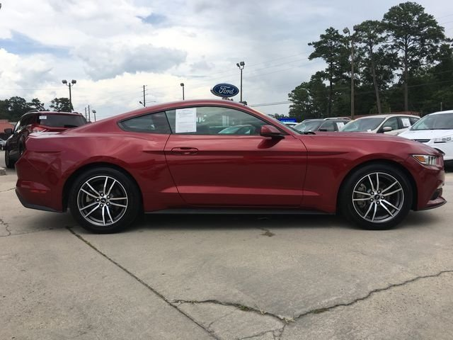 2017 Red Ford Mustang EcoBoost 2 Door RWD Automatic Coupe EcoBoost 2.3L I4 GTDi DOHC Turbocharged VCT Engine